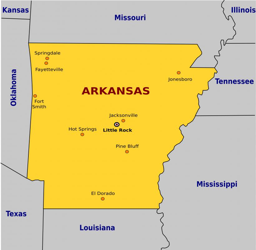 Little Rock is the capital of Arkansas and has a population of close to 200,000.