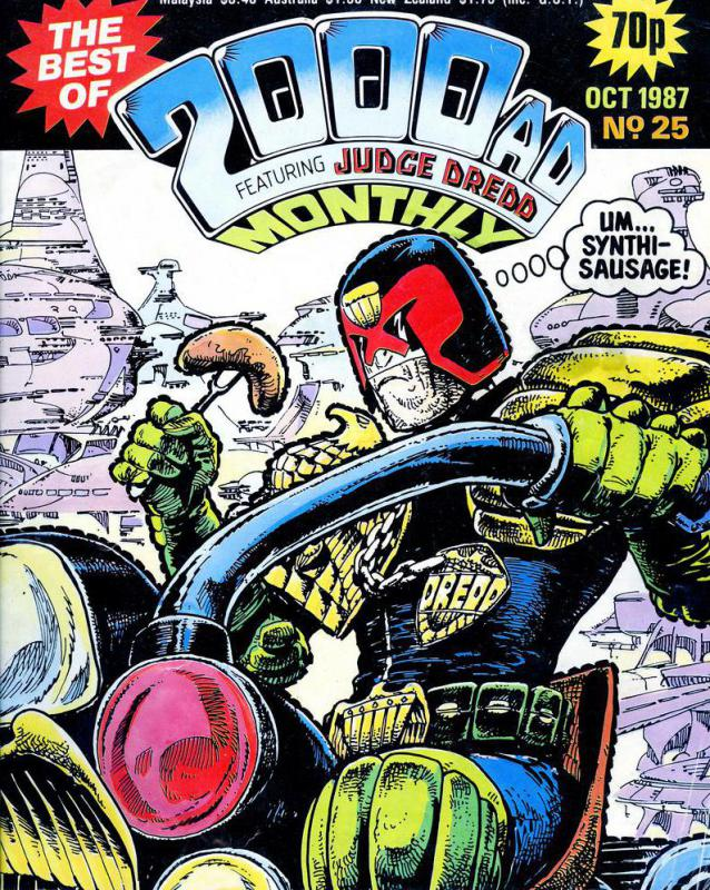 Judge Dredd is an example of a graphic novel series.