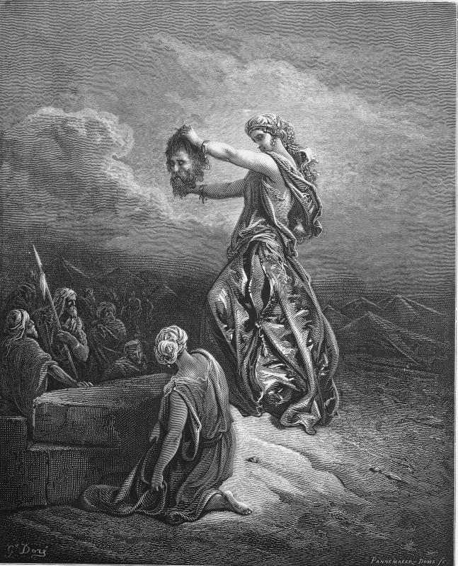 In the Bible, Judith showed the head of Holofernes to her people, the Israelites.