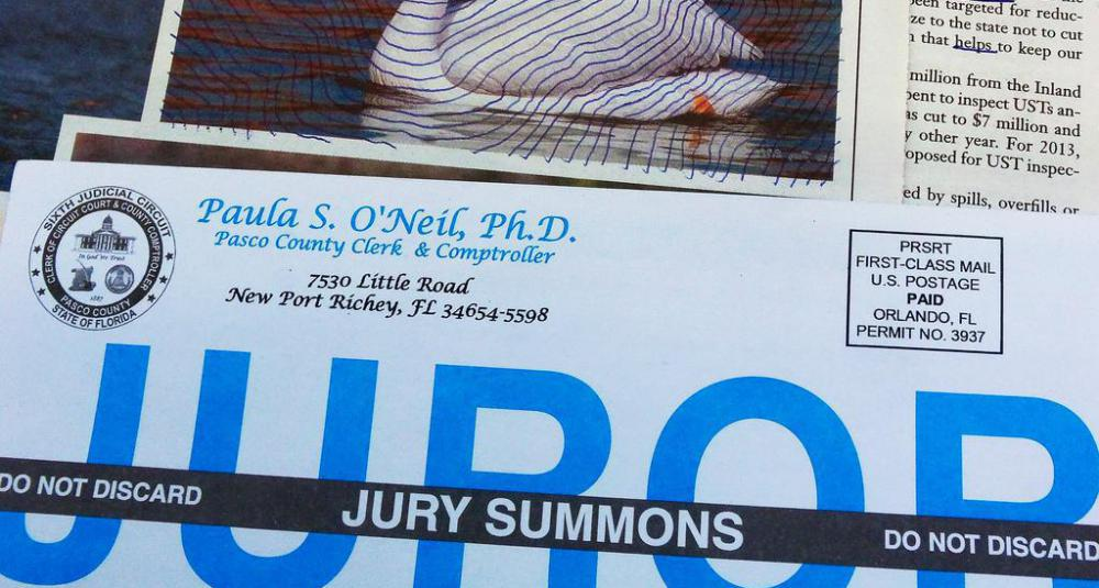 A jury summons demands the presence of a citizen in court for jury duty.