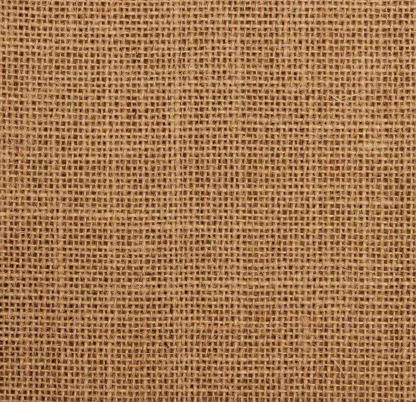 Woven from plant fibers, jute is a traditional upholstery webbing, often used for carpet backing.