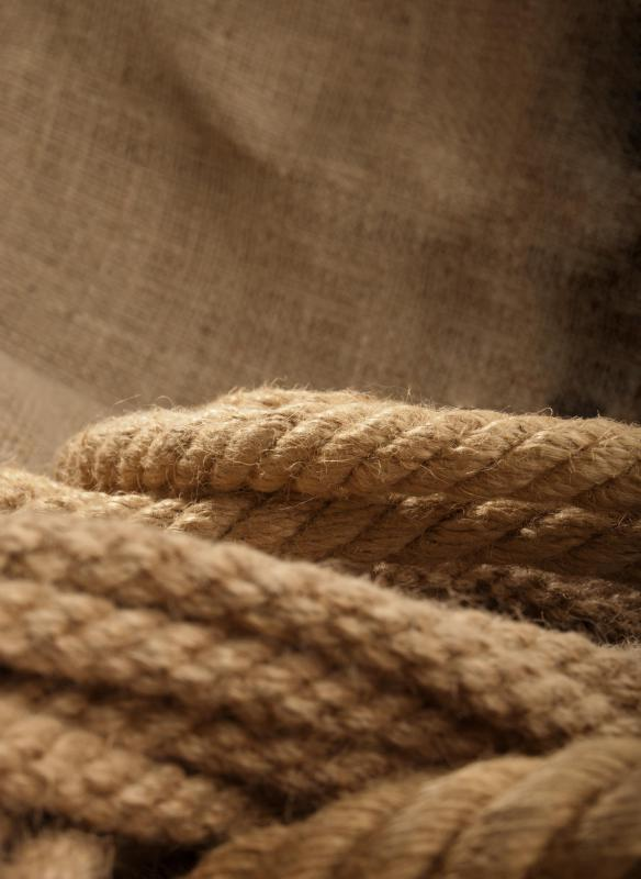 Jute is the most widely used type of upholstery webbing.