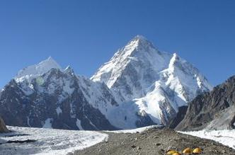 K2, the second highest mountain in the world, is also in the Himalayas.