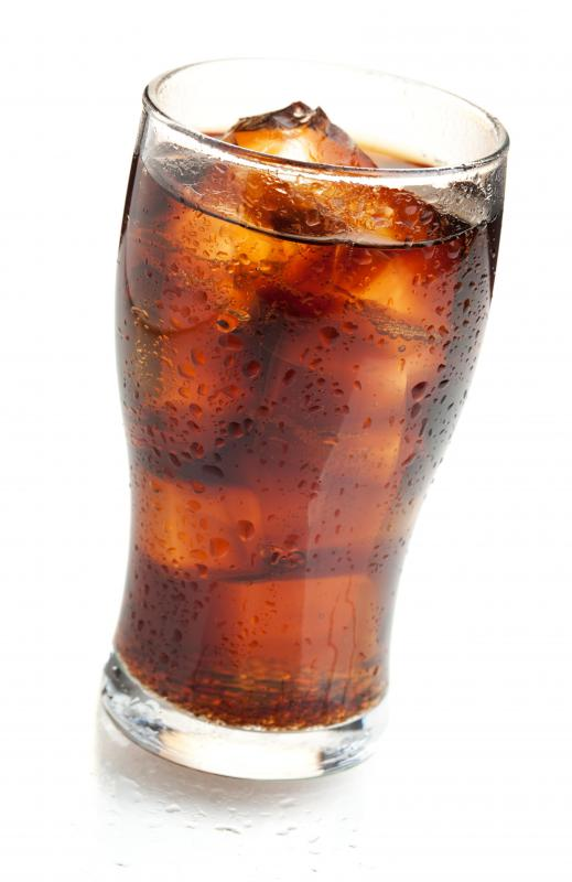 A diet soda containing sugar substitutes.