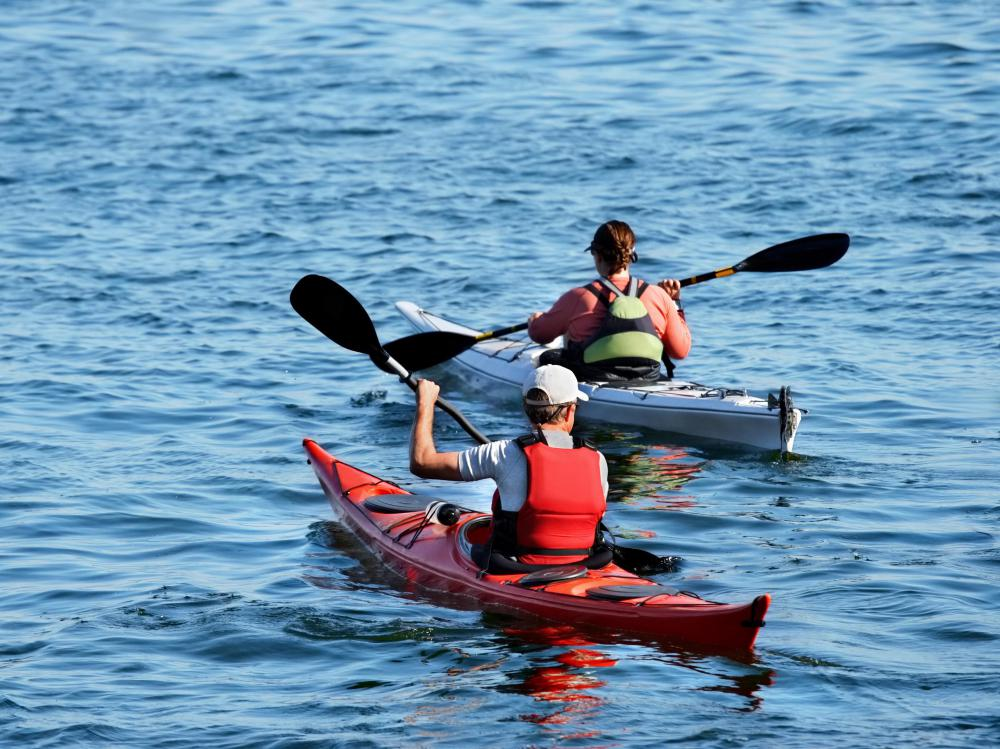 Kayaking may be an activity offered at a wilderness resort.