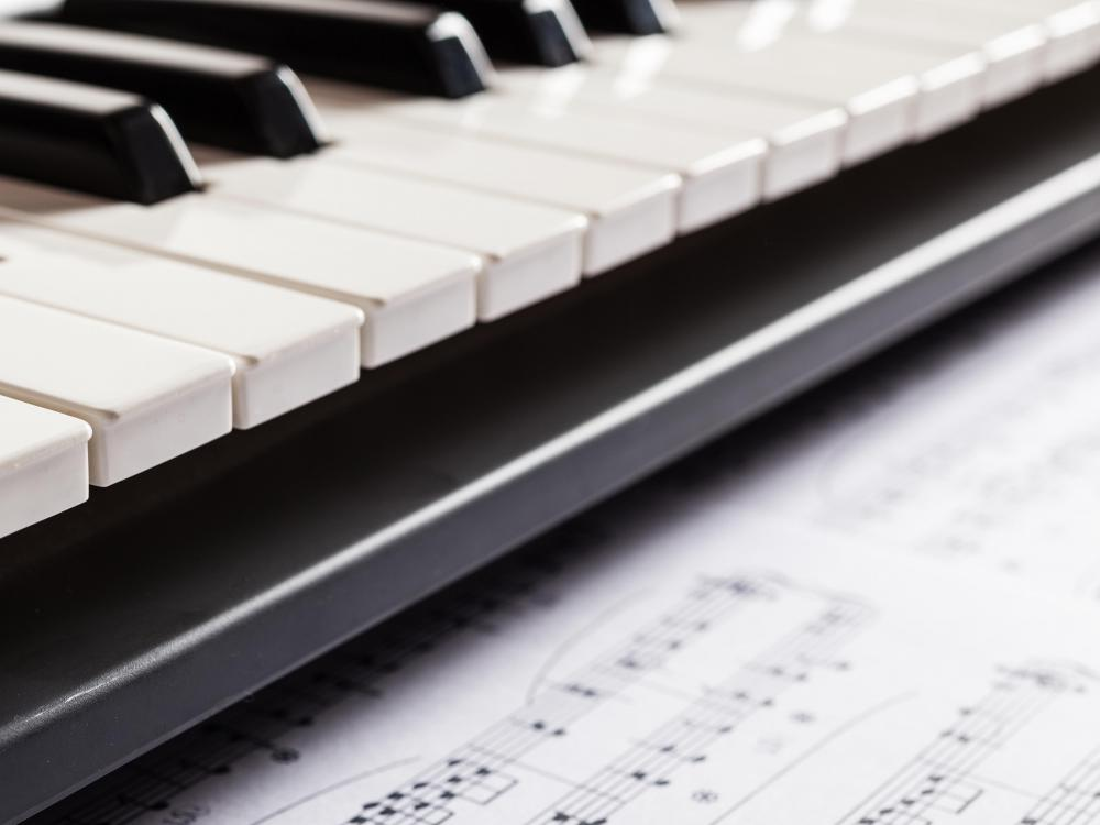 A musician may play a variety of musical instruments, including a keyboard.