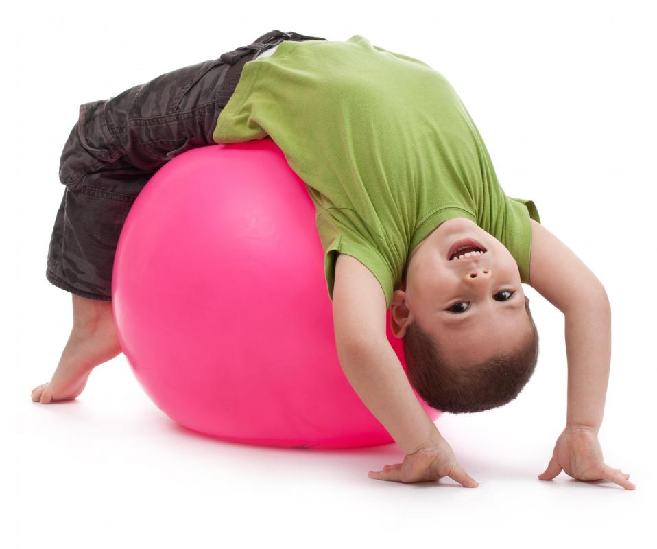 To keep an exercise ball properly inflated, an exercise ball pump is needed.