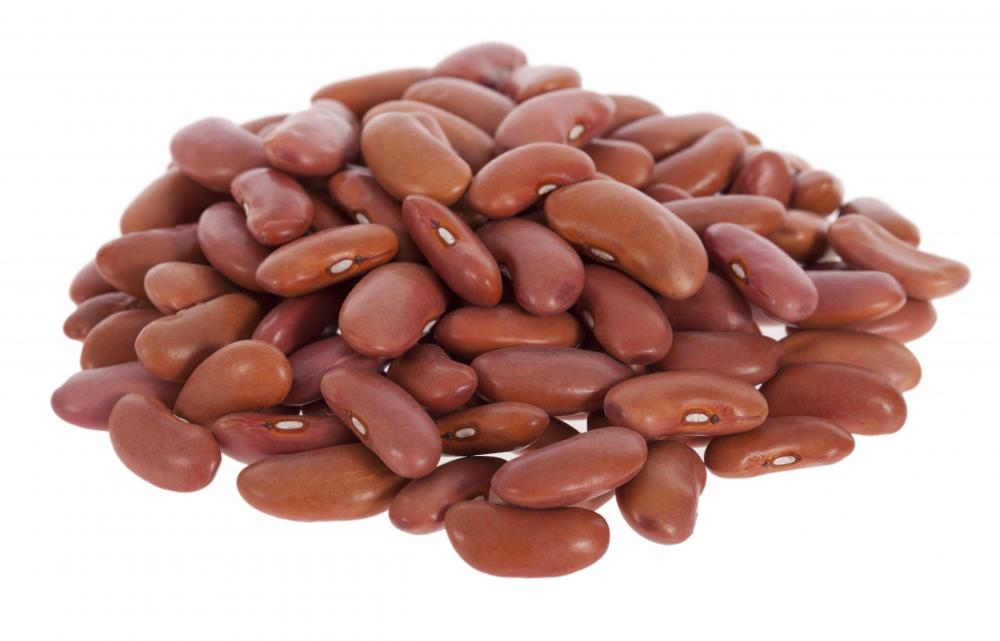 Kidney beans, which are a good source of tryptophan.