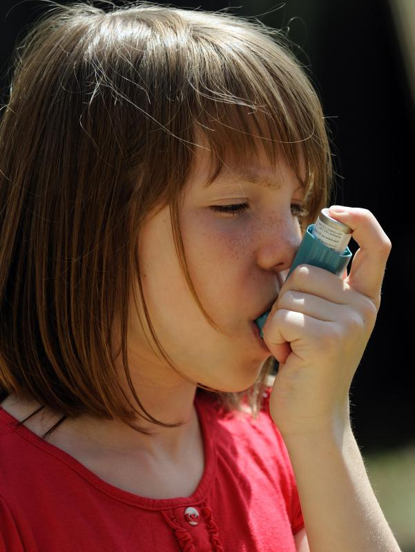 An inhaler may be prescribed to asthma sufferers who are experiencing breathing problems in relation to carpet.