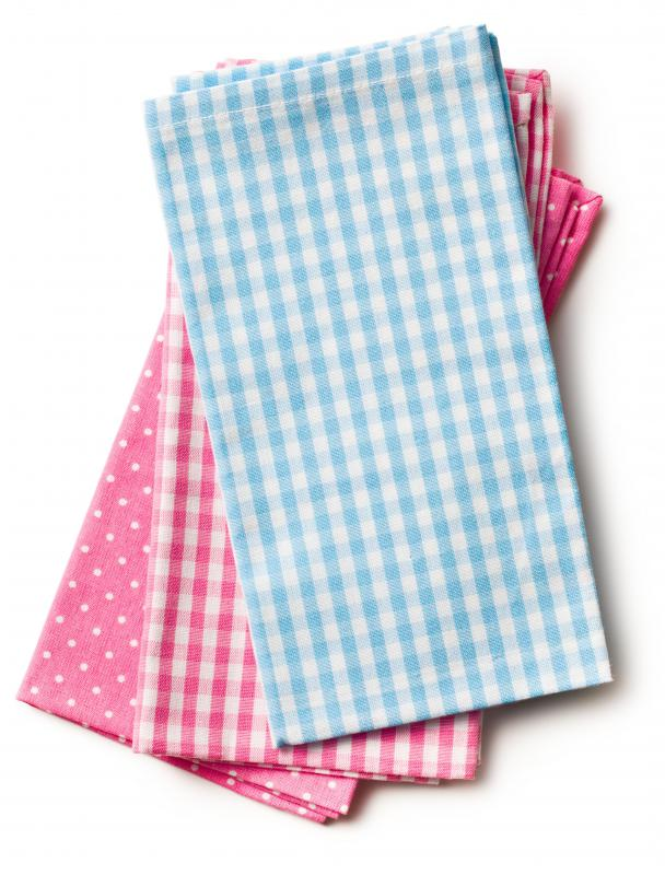 Tea towels are typically made of linen.