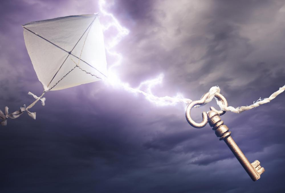 Benjamin Franklin used a kite and a key to prove that lightning was caused by electricity.