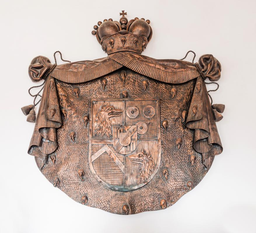 A coat of arms reveals information about the person who wears or carries it.