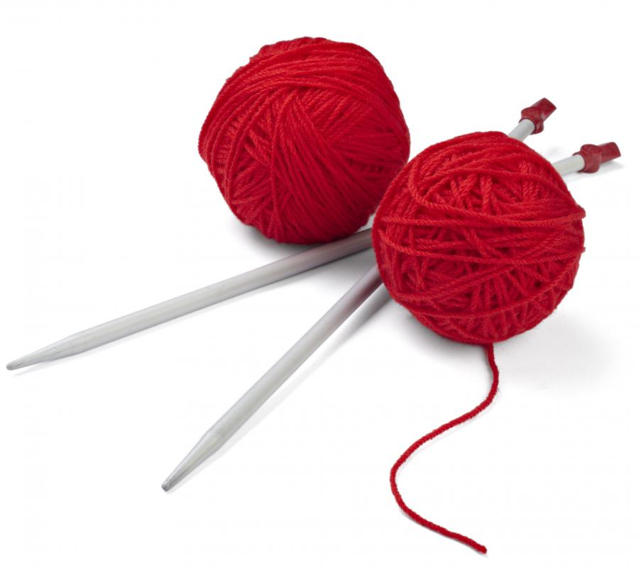 Simple knitting projects can be good for beginners.