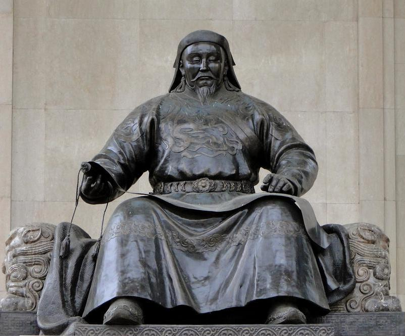 Kublai Khan was the grandson of Genghis Khan.