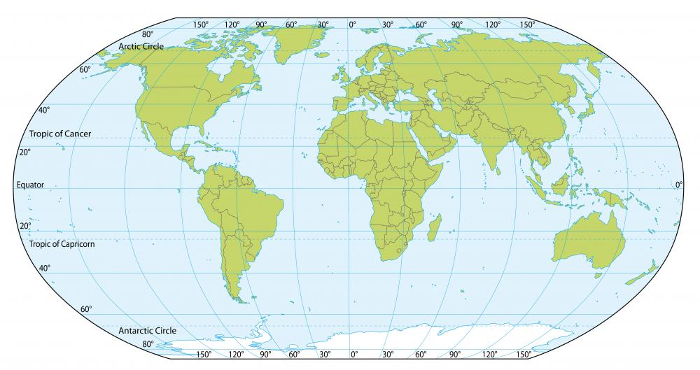 The Equator Is An Imaginary Line Splitting The Globe Into Two Hemispheres.
