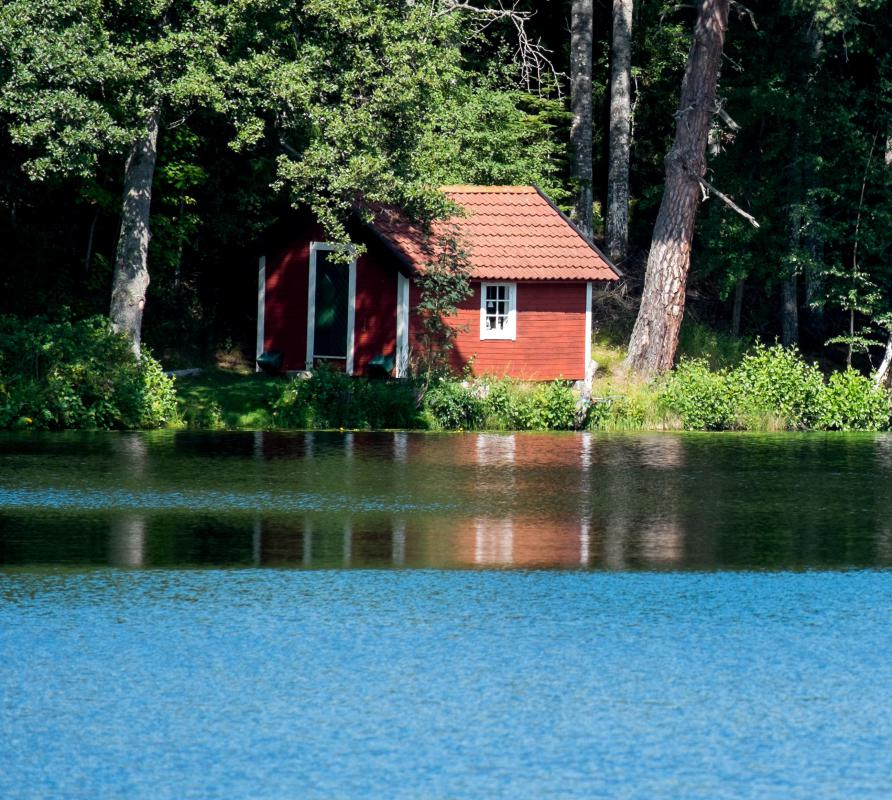 Many Vacation Cottages Are Placed Alongside Lakes