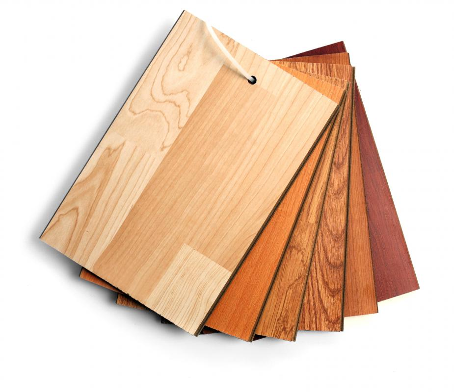 Laminate flooring is an inexpensive, faux wood alternative to hardwood flooring.