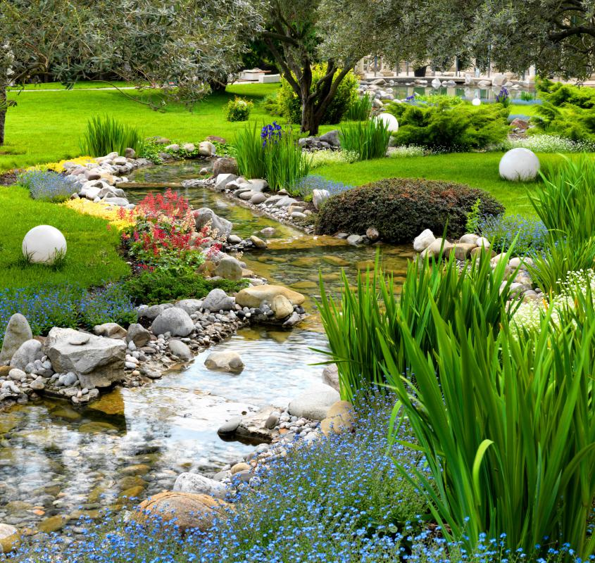 What are the different options for river rock landscaping for River rock landscaping