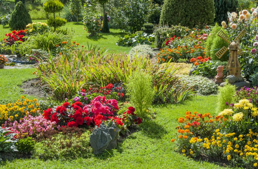 A landscaping project will typically include plants and flowers.