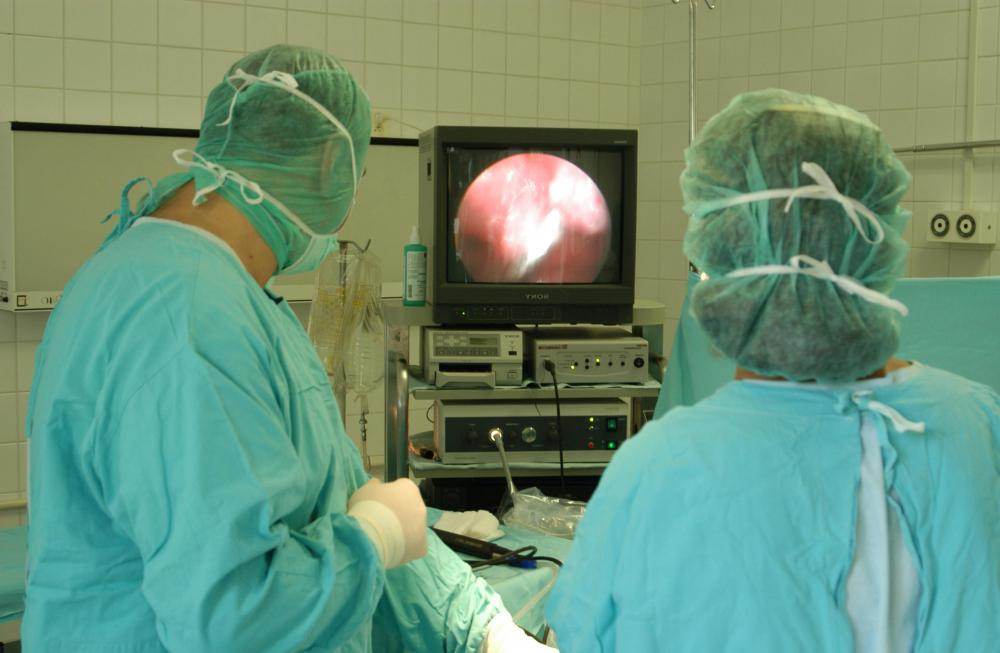 Laparoscopic surgery using a small camera inside the abdomen can be performed to determine where the adhesions are and what complications they are causing.