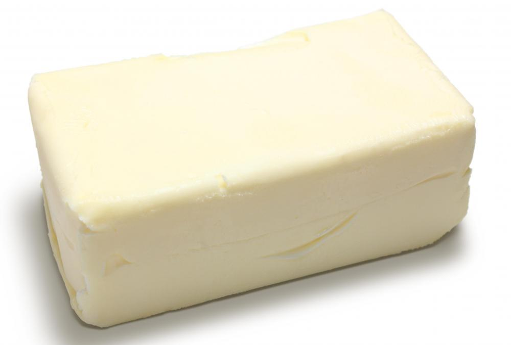 Lard is used in place of butter in Lardy cake.