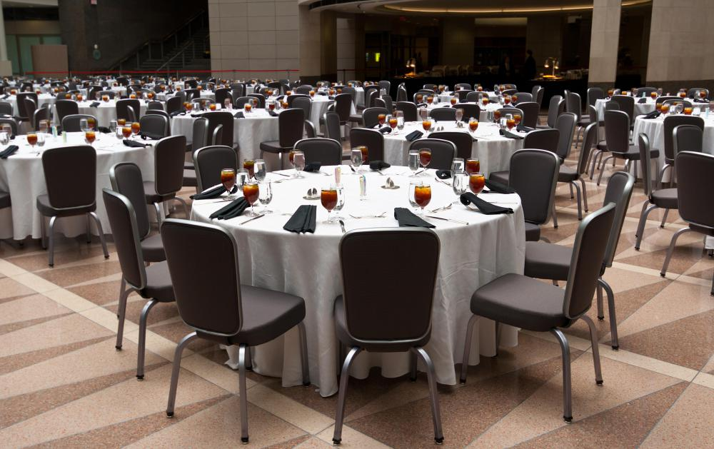 A caterer may work exclusively for a banquet hall.