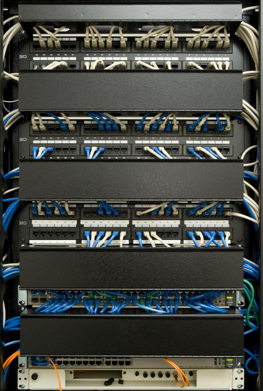 Using jacks and ports, patch panels are connective machines which establish communication between a group of individual components.