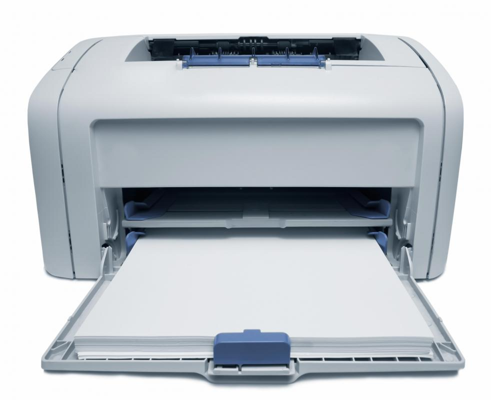 Laser printer that uses printer toner.