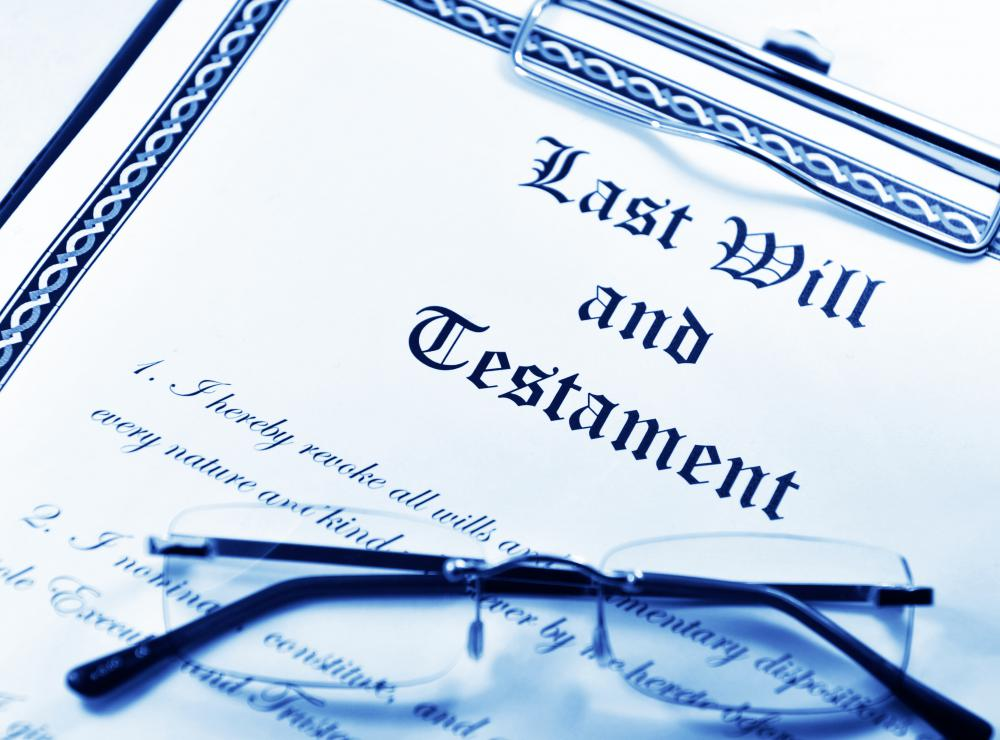 A simple will spells out how a person wants his assets distributed upon his death.