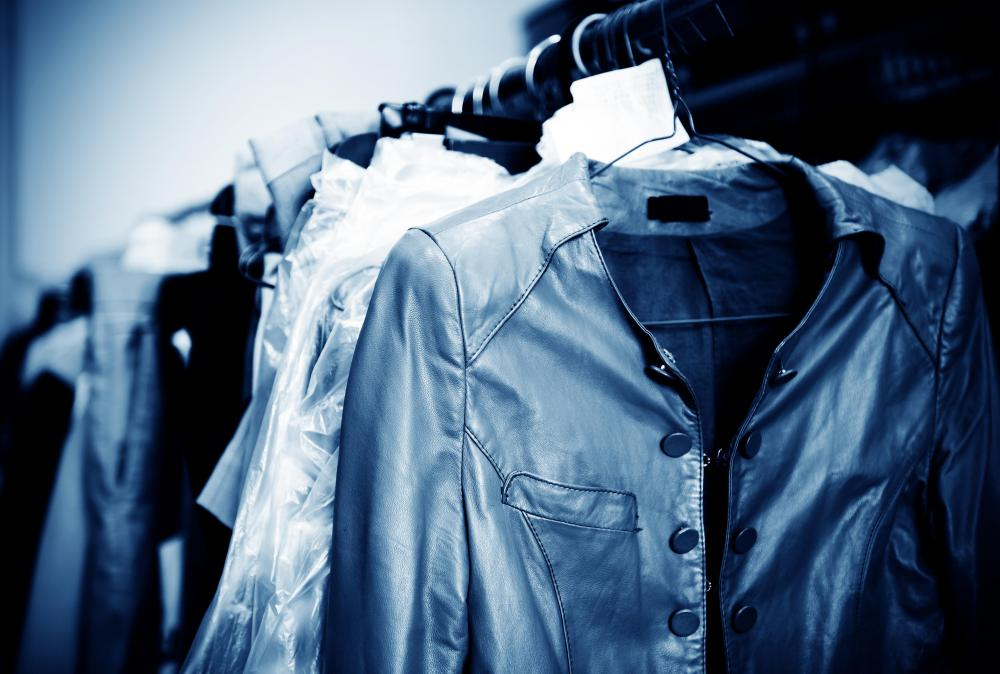 Dry cleaning uses solvents to clean clothes rather than water.