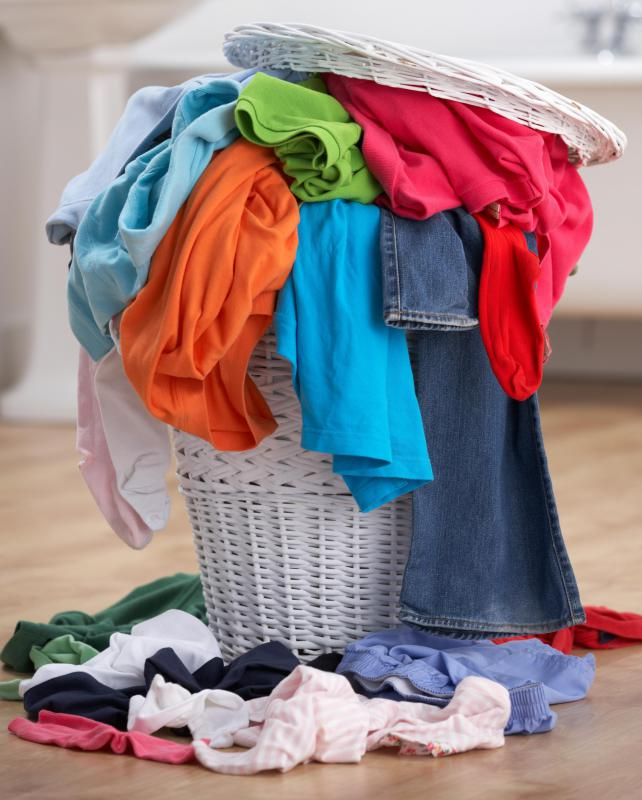 Wicker laundry baskets are able to handle heavy laundry loads.