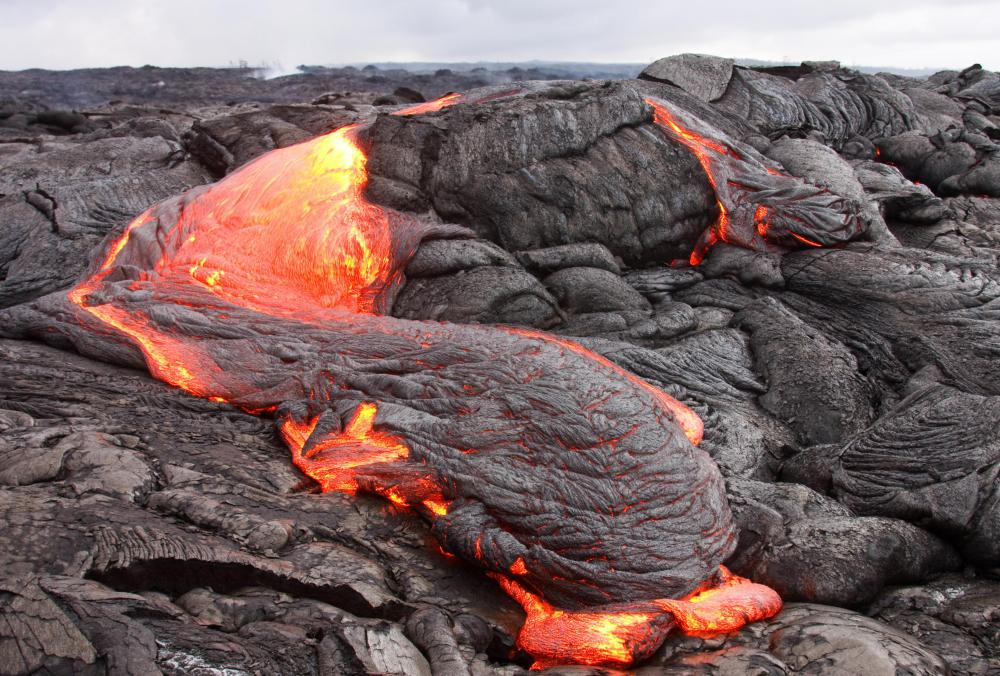 When lava cools in a short amount of time, obsidian is formed.