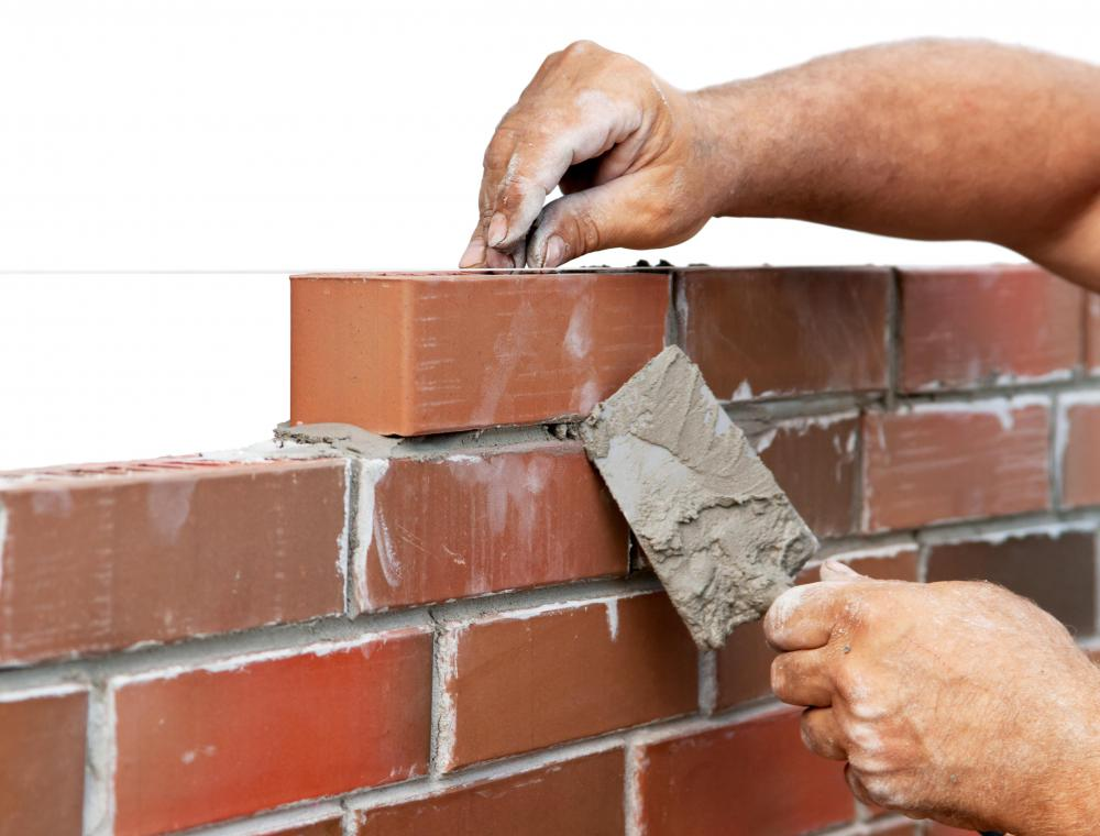 While creating a foundation, always lay bricks with their indentation facing up.