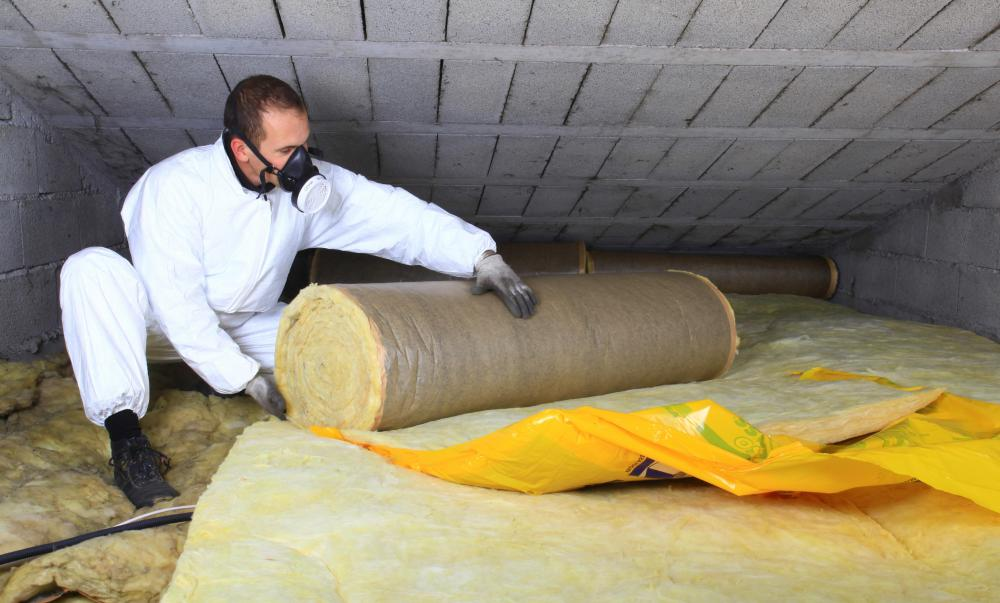 Attic insulation often comes in rolls that must be cut to fit.