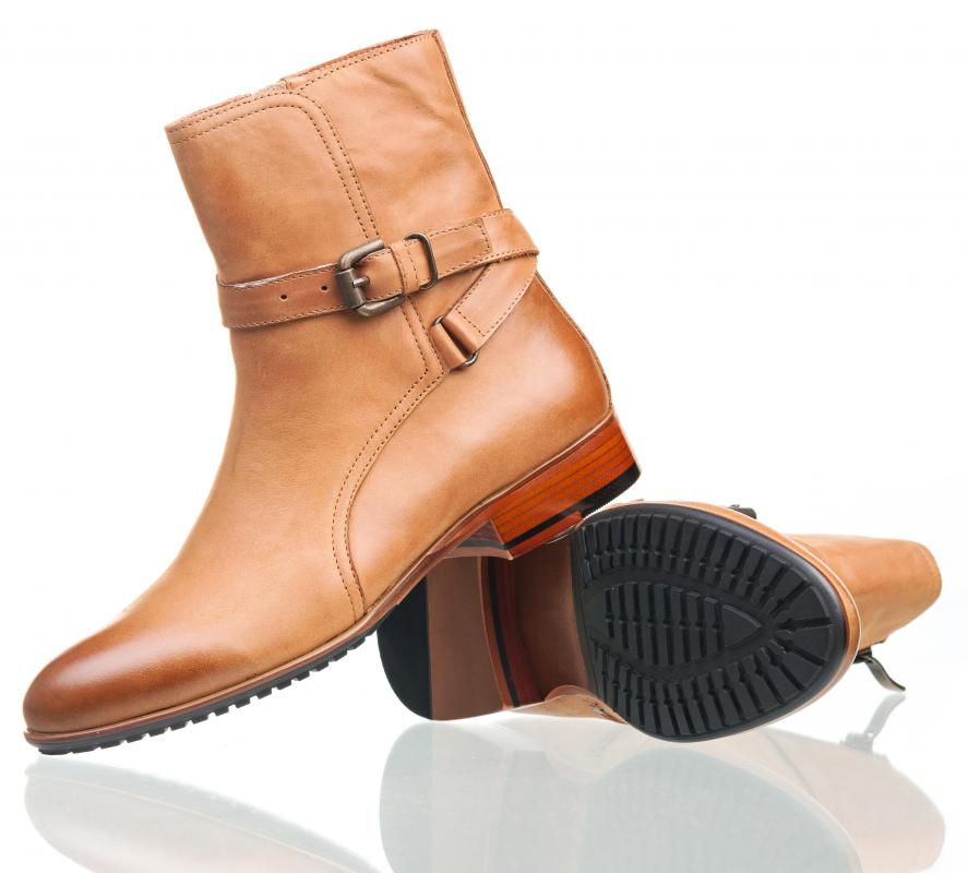 Cognac leather is often used to make boots.