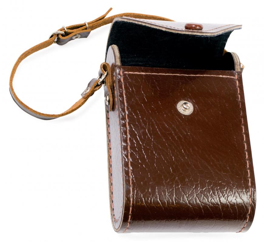 Tanned leather may be used to make cases.