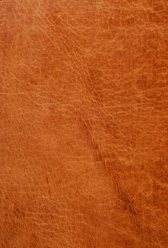Leather is a durable fabric, commonly used for upholstery.