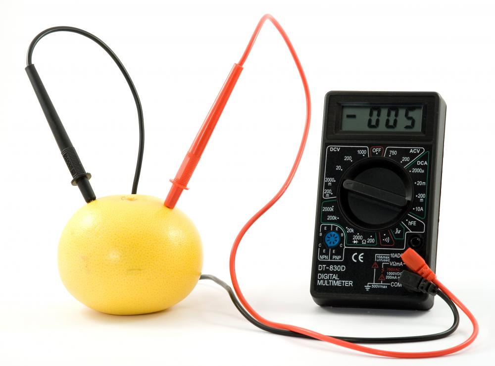 A lemon battery is a classic science experiment.