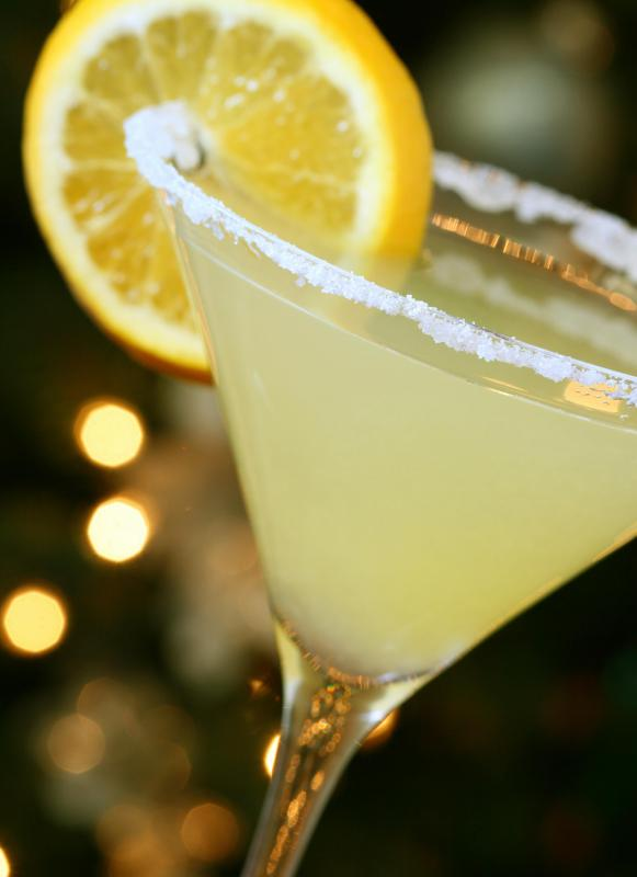 Vodka, one of the ingredients in a lemon drop martini.