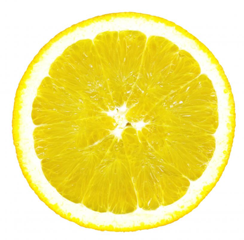 Rubbing a lemon on clothes can help remove rust stains.