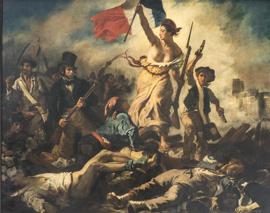 An example of Romantic art, Liberty Leading the People by Eugène Delacroix.