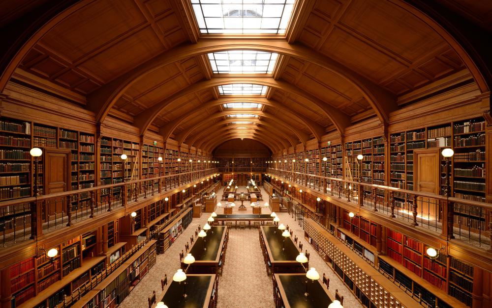 Many historians work in libraries and universities.