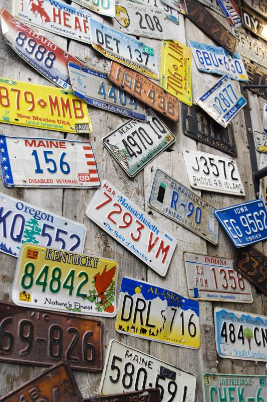 Hunting for license plates is a game that can be played while on a road trip.