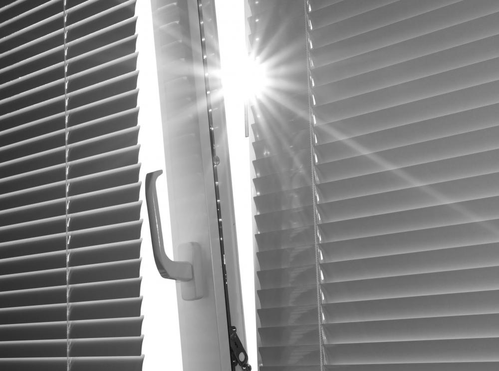 Blinds are now considered a standard window treatment.