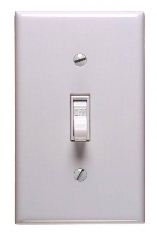 A wall plate over a light switch.