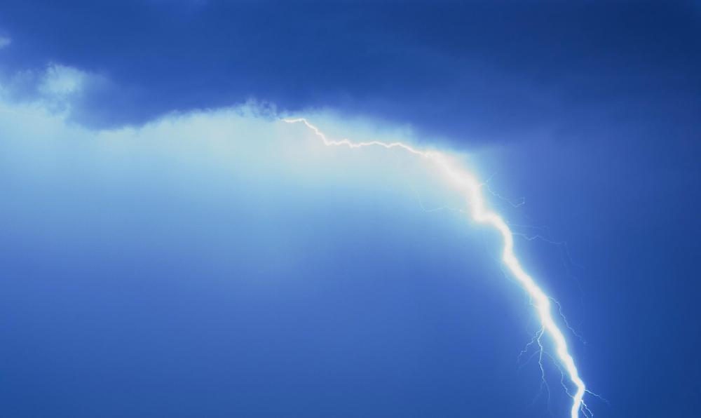 Thunder and lightning are common with hurricanes.