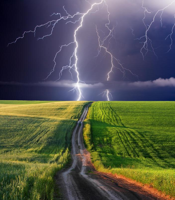 Lightning is one potential cause of power surges.