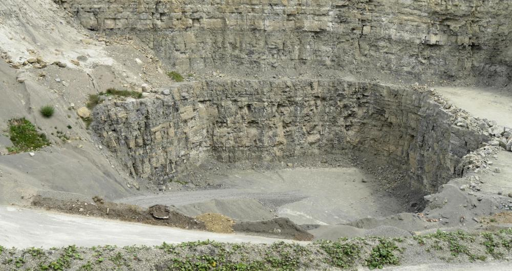 Limestone is used to make cement.