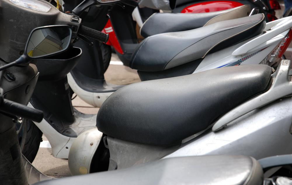 Motorized scooters used for home care can be found in three- and four-wheel varieties.