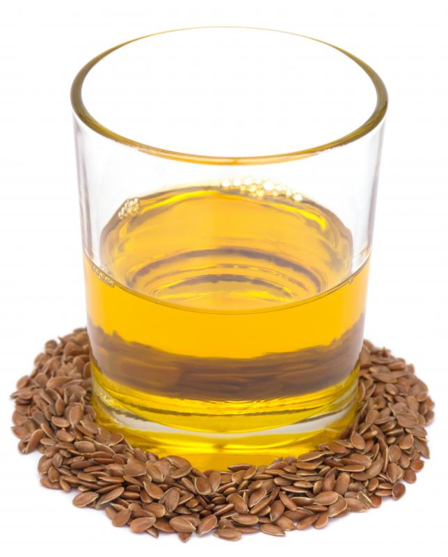 Flaxseed oil and flax seeds.